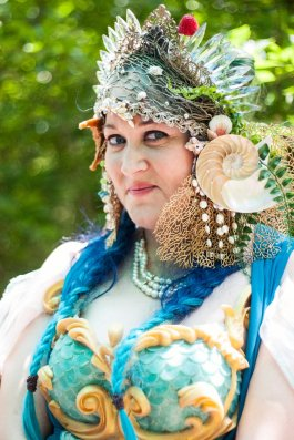 Portrait of a mermaid from the Oklahoma Renaissance Festival.
