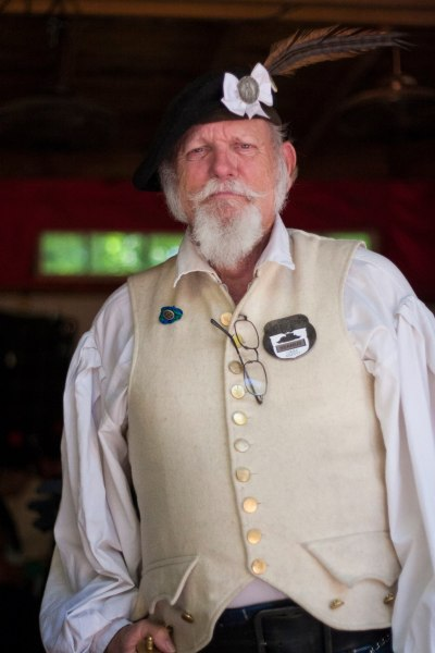 Portrait of a man at the Oklahoma Renaissance Festival.