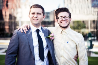 The groom and his best man. From an Oklahoma City wedding.