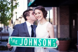 Portrait of the bride and groom from an Oklahoma City wedding.