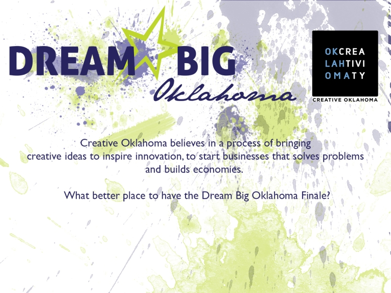 I was tasked with creating a slideshow for the Dream Big Oklahoma finalists presentation.